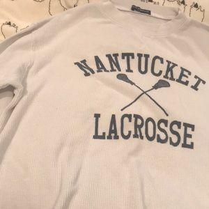 along sleeve lacrosse waffle top